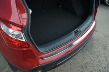 CHROME REAR DOOR BUMPER SILL PROTECTOR TRIM COVER STEEL FOR NISSAN DUALIS +2