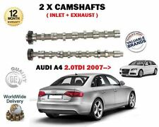 FOR AUDI A4  2.0 TDI + QUATTRO 2007--> NEW INLET + EXHAUST 2X CAMSHAFT CAM SET