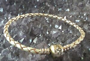 Authentic PANDORA Sterling Silver Braided Leather Cord Charm Bracelet