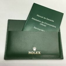 Authentic ROLEX Green Leather Card & Paper Holder 4119209.34