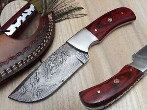 LOUIS SALVATION HANDMADE DAMASCUS HUNTING SKINNER KNIFE WITH DOLLAR SHEET HANDLE