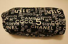 Auth CHANEL Sea Line Black & White CC Drawstring Shoulder Bag