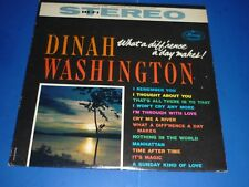"DINAH WASHINGTON - ""WHAT A DIFF'RENCE A DAY MAKES !"" - RECORD ALBUM LP - MERCURY"
