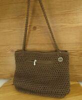 The Sak Original Purse Crochet Look Shoulder Bag Handbag Medium 3  compartments