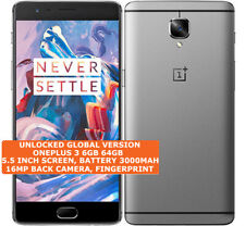 "ONEPLUS 3 Unlocked 6gb 64gb Quad-Core 16mp Fingerprint 5.5"" Android 9.0 Pie Lte"