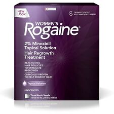 Women's Rogaine Hair Regrowth Treatment, Unscented  - 3 month supply