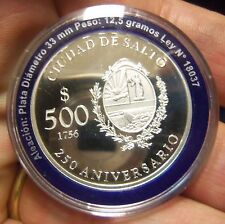 Uruguay 2006 $ 500  250 aniversary of Salto - Silver Coin UNC
