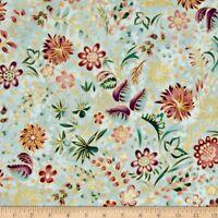 Robert Kaufman LUMINA 2 Metallics Floral Bouquet 100% cotton fabric by the yard