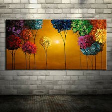 Hand-Painted Floral Botanical Horizontal Modern Canvas Oil Paintings One Panel