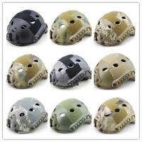 55-66CM Tactical Fast Helmet PJ Type Advanced Adjustment w/NVG Shroud+Side Rail