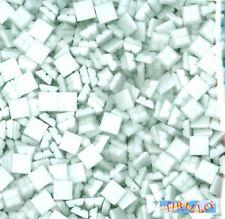 MOSAICO - Tessere mosaico in pasta vetro 1x1 cm - 1 kg/1500 pezzi - Bianco