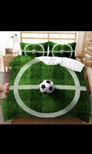 Soccer Doona Cover DOUBLE Bed Kids Set.