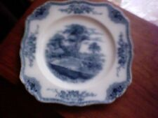 Made In England Blue & White Square Plate