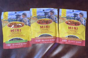 (3 Pack) Zuke's Mini Natural Healthy Chicken,Peanut Butter, Duck Dog Treats 6oz