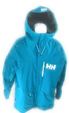 Helly Hansen ULLR Freeride Men's Ski Jacket Teal/Lime Relaxed Recco Size XXL