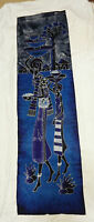 Original African Batik Art - Large Signed Batik Painting from Senegalese Artist