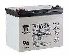2 x YUASA 12V 36AH (33AH 35AH) AGM LEAD Battery 1st by Design Mobility