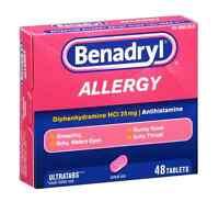 Benadryl Allergy Relief, Ultratab Tablets 48 ea