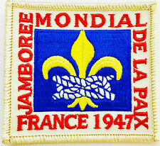 M9111 6th WORLD SCOUT JAMBOREE 1947 REPRODUCTION PATCH