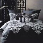 Linen House Queen King Charcoal Quilt Cover Set Black Grey Doona Duvet Set NEW