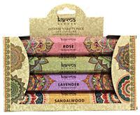 Karma Scents Incense Sticks 4 Scents:Rose, Jasmine, Lavender, Sandalwood