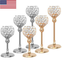 Crystal Candle Holders Table Lamp Candlestick For Wedding Dinner Decoration