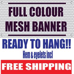PVC Mesh Banner Scaffolding Banner full colour custom-printed Free Shipping