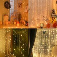 20 50 200 300 LED Fairy Wedding String Lights Curtain Party Garden Home Decor US