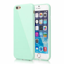 FOR iPHONE 8 7 6S Plus PASTEL CANDY GLOSS SHINY SOFT SILICONE GEL CASE COVER