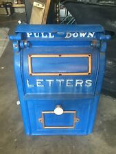 Antique cast iron Us Postal mailbox Wehrle Co. Newark Ohio. Excellent shape.