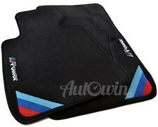 BMW X6M Series F86 Black Floor Mats With M Power Emblem Clip LHD