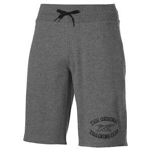 Asics Men's Knit Shorts Training Club 11 Inch Graphic Sports Shorts - Grey - New