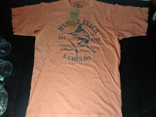 B B Tropics Myrtle Beach South Carolina Clay/Coral T-shirt w/Tags - Medium?