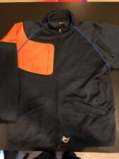 Volcom Track Jacket Men's Size L Navy Blue And Orange Full Zip
