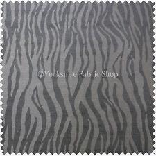 Cebra Animal Inspirado Patrón Rayas Negro Gris Gran Peso Tapicería Telas
