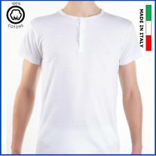 Serafino uomo maglia intimo t-shirt intima mezza manica corta maglietta cotone