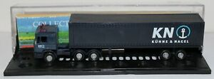 HO scale 5 semi-trailers with shipping containers. Suit model railway, diorama.