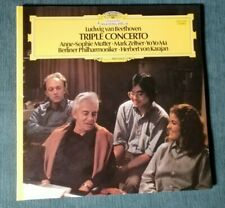 BEETHOVEN TRIPLE CONCERTO / MUTTER, ZELTSER, YO YO MA, KARAJAN LP france 2531262