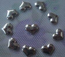 10PCS heart-shaped GRANDMA floating charm for glass living memory locket AA51