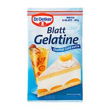 Dr.Oetker Blatt Gelatine -Gelatin Leaves - Pack o 6 -Made in Germany-