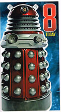 DR WHO - 8 ans Today Joyeux 8th Anniversaire Bleu Tardis Carte DR WHO Daleks
