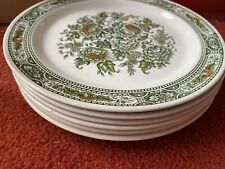 6 Vintage Ridgway Ironstone Canterbury Green Floral 10 inch Collector Plate