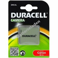 Duracell Akku für Canon Typ NB-4L 3,7V 720mAh/2,7Wh Li-Ion Schwarz