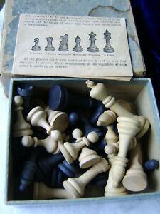 DRUEKE'S American Made Chessmen No.00 IN BOX