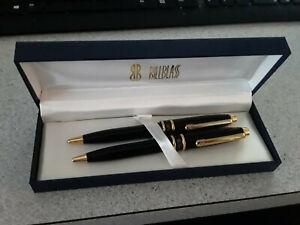 Bill Blass Pen & Pencil set - Black with Gold