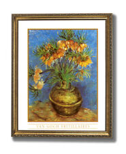 Vincent Van Gogh French Flowers Vase Wall Picture Gold Framed Art Print