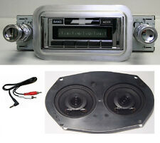 1958 Chevy Radio + Stereo Dash Speaker  Free AUX Cable Stereo 230 **