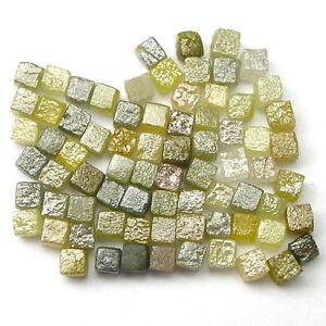 10 + Karat Uncut Natürlich Grobem Kubischer Würfel Diamanten .10