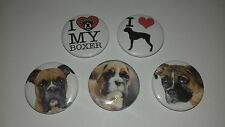 5 Boxer I love heart dog puppy Pin Button Badges 25mm