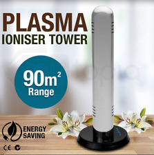 Home Air Purifier Filter Tower Plasma Ion Office Room Ioniser 40sqm - 90sqm